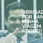 Davi Alcolumbre e Kátia Abreu vão aos EUA em jatinho da FAB