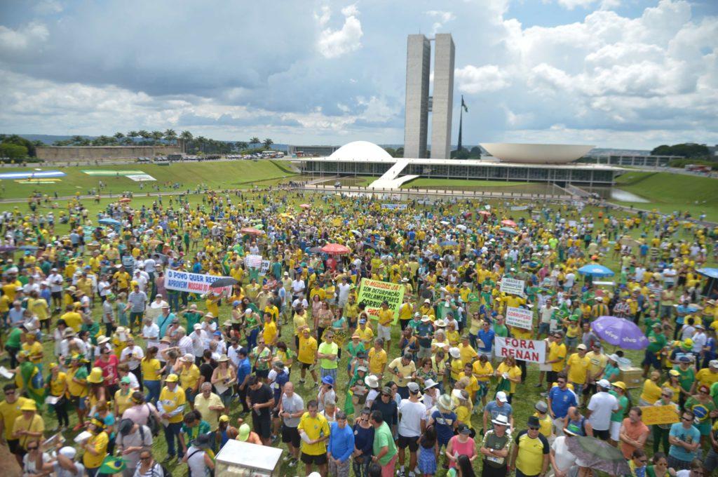 Esplanada dos Ministérios está fechada para a realização de manifestação em apoio ao governo Bolsonaro.