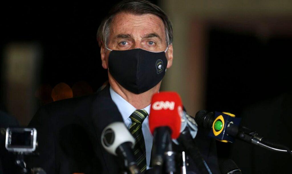 Bolsonaro faz declaração com Maia e Alcolumbre